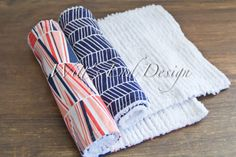 NEW Boutique Modern Chenille Burp Cloths Set of by WittsEndDesign, $15.00