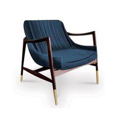 MID-CENTURY CHAIR INPIRATION   Blue armchair  inspiration for a modern home decor   www.bocadolobo.com/ #modernchairs #chairideas
