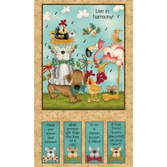 """No Foul Play Panel 24"""" x 44""""~ Cotton Fabric by~Henry Glass 8712P-44~Fast Shipping N422"""