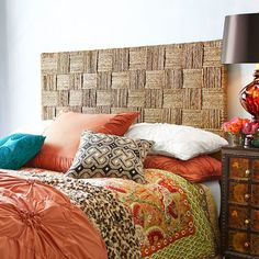 Shop for a variety of Bed & Bath Decor & Accessories at Pier 1 Imports including bedding, furniture, linens and more! Master Bedroom Redo, Home Bedroom, Bedroom Furniture, Bedrooms, Bedroom Ideas, Seagrass Headboard, King Headboard, Headboard Ideas, Pier 1 Decor
