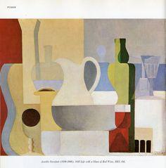 Still Life with Glass of Red Wine | AMÉDÉE OZENFANT 1921