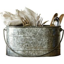 Metal Bucket with Compartment