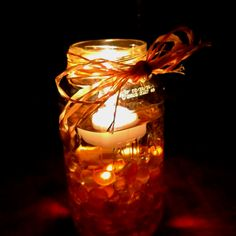 Mason jar floating candle craft...great for Fall!