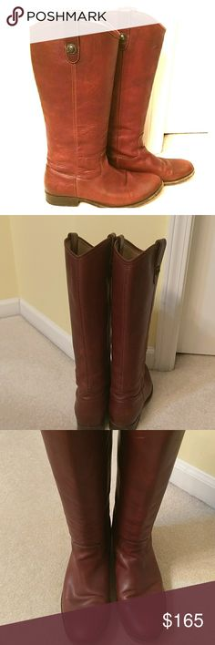 Frye like NEW Frye Melissa Button boots in a beautiful caramel brown. Worn a few times, in excellent/like NEW condition. Sorry, no trades. Frye Shoes Heeled Boots