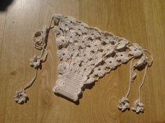 Crochet Panties. Flower motif panties with adjustable side straps. Cotton thread on Hook 2.
