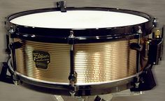 "Noble & Cooley 14 x 5"" Zildjian Bronze snare drum. The shell is made from Zildjian cymbal alloy and is Noble and Cooley's 1989 version of the Bell Brass snare drum, it is highly collectable as only 300 were made. The hardware is black nickel."