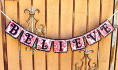 BELIEVE Red & Black Christmas Decorative Hanging by JustBeccuz, $16.95