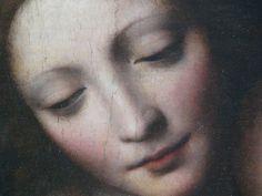 Detail of Bernardino Luini, Madonna and the Sleeping Child, 1532. Beautiful!