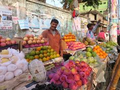 The vendor had his stall by the main street just outside the Bandar Bazar Fruit Market in Sylhet, Bangladesh.