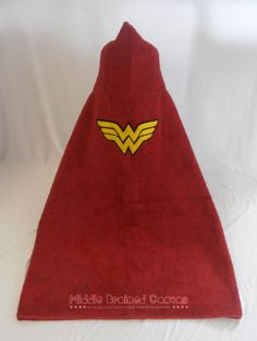 Wonder Woman Hooded Towel by MiddleBrainedCanvas on Etsy, $19.50 #costuming