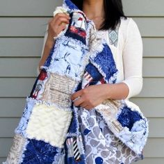 """Make your own crib-size 40"""" x 60"""" rag quilt!"""