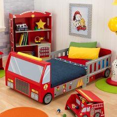 KidKraft Fire Truck Toddler Bed - 76021, Multi