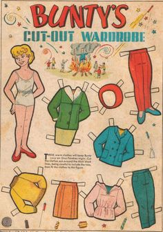 Bunty Comic Book Paper Doll I had a huge collection of bunty cut-out dolls, I kept them in an old shirt box of my dad's, and they all had a name