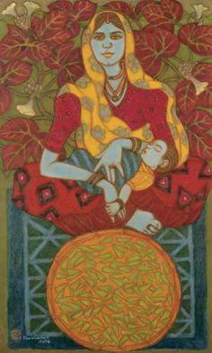 Art on pinterest raja ravi varma krishna and sonia delaunay for Asha ramachandran mural painting