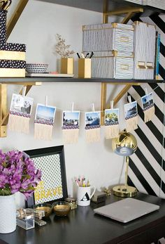 20 Organization Tips to Create the Chicest Desk Ever via Brit + Co