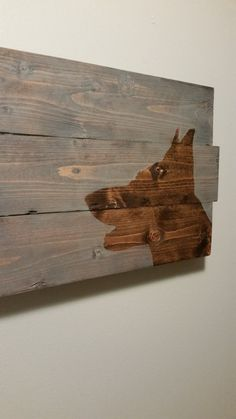 Custom dog silhouette reclaimed wood art can be any by dog - 5oh4Designs.etsy.com