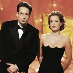 David Duchovny and Gillian Anderson - collector pic !