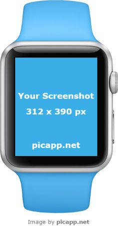 Add your mobile app screenshot image to an iPhone frame, iPad frame or Android device frame. Apple Watch Blue, Watch Image, New Ios, Ios App, Smartwatch, Mobile App, Mockup, Frames, Portrait