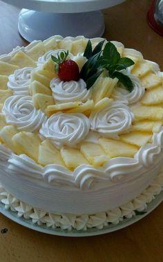 Ideas Birthday Cake Decoration Funny For 2019 Cake Icing, Buttercream Cake, Brze Torte, Fruit Birthday Cake, Birthday Cupcakes, Fresh Fruit Cake, Cake Recipes, Dessert Recipes, Decoration Patisserie