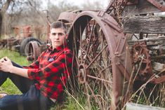 Senior boy photo session, spring, old cars, Ford, Chevy, Dodge, Vintage, High School, Photography, Pictures, outside, Laura Elizabeths Photography, tractors