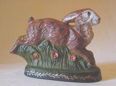 Moni's Folkart, handpainted collectible chalkware rabbits