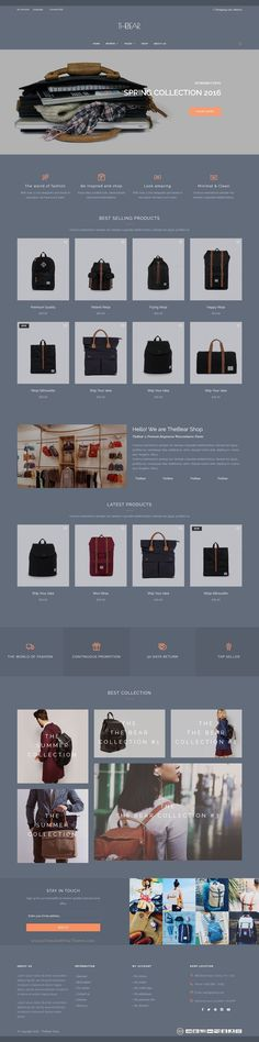 Thebear is professional and modern #Magento 2 & 1 theme for multipurpose #bag #luggage #shop eCommerce website with 7+ stunning homepage layouts download now➩ https://themeforest.net/item/thebear-the-magento-2-1-theme/17278729?ref=Datasata