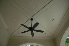outdoor room ceiling detail