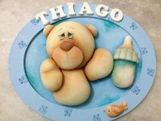Porta Maternidade Ursinho | Meire -Mania de biscuit | Elo7