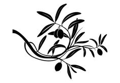 Olive Branch Wall Decal - Great Mediterranean Kitchen Decor