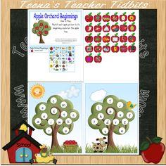 Apple Orchard Beginnings File Folder Game