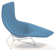Knoll - Bertoia Asymmetric Upholstered Chaise