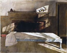 Andrew Wyeth  Maine Room 1991 Water and graphite on paper 28.25x36.25cm