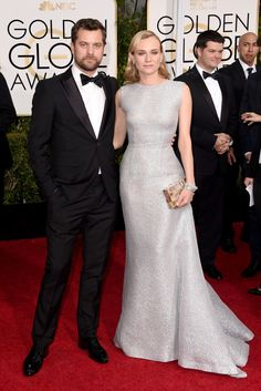Red Carpet Review: Golden Globes Luxe Awards | Diane Kruger in Emilia Wickstead | The Luxe Lookbook