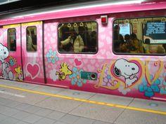 snoopy train in Taiwan <3