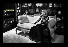 Florence in Chanel's Apartment.