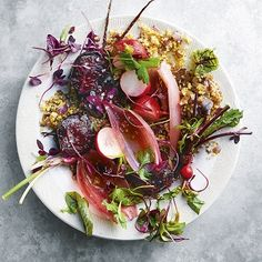 Summer time and the salads are easy Yellow Mustard Seeds, Vegetable Curry, Cooking Instructions, Beetroot, Couscous, Beets, Food Videos, Good Food, Lunch
