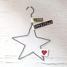 Weihnachtsanhänger m Text 2 (Best Christmas Ideas) - DIY Geschenke 2019 Small Christmas Trees, Winter Christmas, Christmas Time, Xmas Trees, Wire Crafts, Christmas Crafts, Christmas Ornaments, Christmas Ideas, Diy Bullet Journal