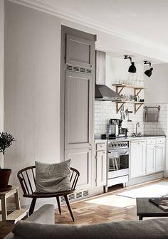 "dustjacketattic: "" simple kitchen | photo janne olander """