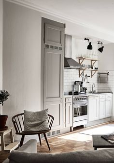 "dustjacketattic: "" simple kitchen 