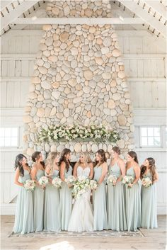 bride poses with bridesmaids in light mint gowns | Summertime Bonnet Island Estate wedding in Manahawkin NJ photographed by New Jersey wedding photographer Idalia Photography. Planning a classic summer wedding? Find inspiration here! #IdaliaPhotography #BonnetIslandEstateWedding #NYWedding #SummerWeddingIdeas Bridesmaids, Bridesmaid Dresses, Wedding Dresses, Mint Gown, Katherine Elizabeth, Bridesmaid Getting Ready, Bride Poses, Wedding Planner, Wedding Photos