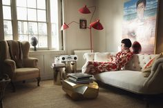 Inside A Top Model's Stunning South London Home (& Closet) #refinery29  http://www.refinery29.com/erin-oconnor#slide-11  O'Connor wears a Dries van Noten dress....