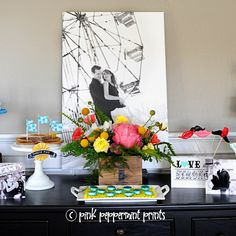 Carnival Themed Engagement Party with Shutterfly - Pink Peppermint Design
