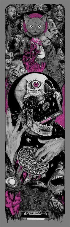 'Visual Horror Sequences' Poster By Alexandros Pyromallis Arte Horror, Horror Art, Psychedelic Art, Dark Fantasy Art, Dark Art, We All Mad Here, Marshmello Wallpapers, Totenkopf Tattoos, Arte Sketchbook
