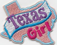 Girl TEXAS GIRL state Fun Patches Crests Badges SCOUT GUIDES Lone Star home