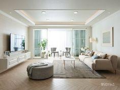 한샘은 '주거 환경 개선을 통해 인류 발전에 공헌한다'는 사명으 로 침실, 거실, 서재, 자녀방 등의 인테리어 가구를 선보이며, 욕실, 창호, 마루 등 건재 아이템까지 주택 내 모든 공간으로 사업영역을 확장해 제품을 제공하고 있다. Showroom, Living Room Designs, Interior And Exterior, House, Furniture, Home Decor, Decoration Home, Home, Room Decor