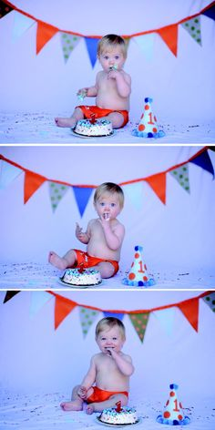 Mason 1 year old birthday photo