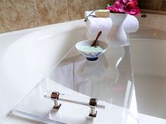 DIY Acrylic Bath Shelf