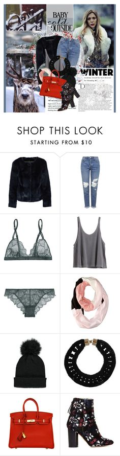 """""""Imagine breathing in Imagine leaving all your air behind"""" by winfreda ❤ liked on Polyvore featuring Edgewood, Balmain, Topshop, La Perla, Kate Spade, Forever 21, Marni, Hermès, Isabel Marant and women's clothing"""