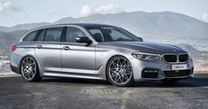 All-New 2017 BMW 5-Series Dreamt Up In Touring Guise #BMW #BMW_5_Series