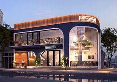 Mall Design, Shop Front Design, Retail Design, House Design, Futuristic Architecture, Facade Architecture, Building Facade, Building Design, Facade Design